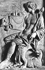 classical bas-relief sculpture of Dionysus