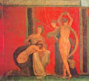 wall painting from the VIlla of the Mysteries, Pompeii